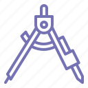 bow, business, mathematic, office, outline, school icon