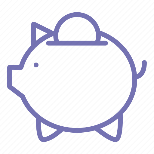 business, investmen, management, money, office, outline, pig icon