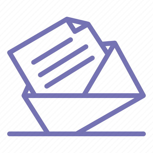 business, letter, mail, message, office, outline icon