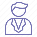 business, office, outline, profile, some one icon