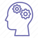 brain, brain storming, business, outline, process, thinking icon