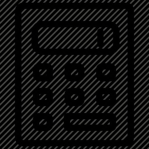 calculate, calculated, calculation, calculator, mathematics icon