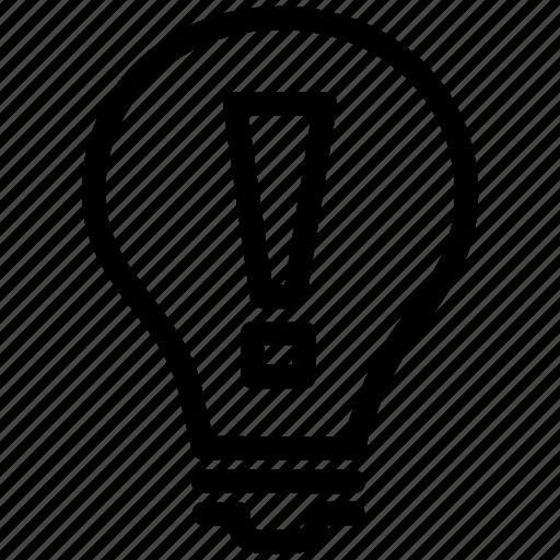 bulb, eureka, fine, good, idea, light, thinking icon