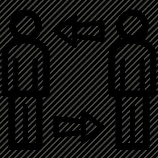 exchange, executive, leader, management, swap icon