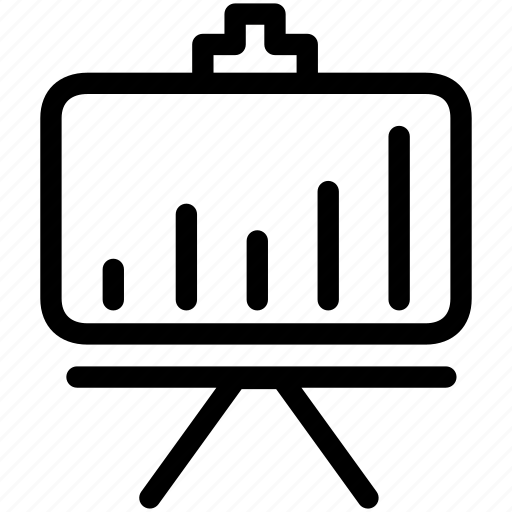 board, graph, presentation, proof, report icon