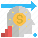 business, dollar, finance, forword, money, plan, vision icon
