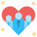 group, heart, love, organization, sincere, team, unity icon