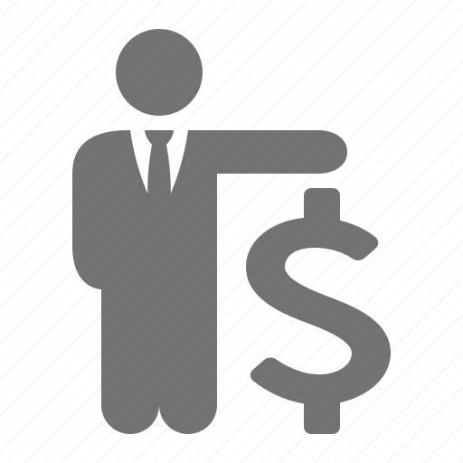 businessman, dollar, money, suit, tie icon