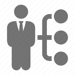 businessman, corporation, executive, management, subordinate, suit, tie icon