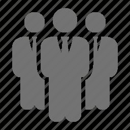 businessmen, corporation, elegant, executive, group, suit, tie icon