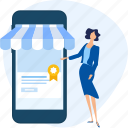 app, e-commerce, mobile, shop, shopping, store