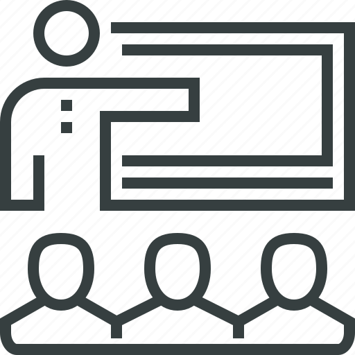 business, mentor, mentoring, presentation, seminar, training, workshop icon