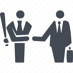 business people conflict, dispute settlement, handshake, reconciliation icon