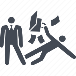 business people conflict, clash, collision, conflict, fight icon