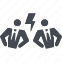 business people conflict, clash, collision, conflict icon