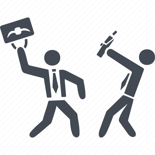 business people conflict icon