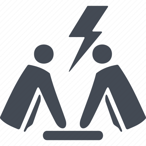 arrow, business people conflict, conflict, dispute icon