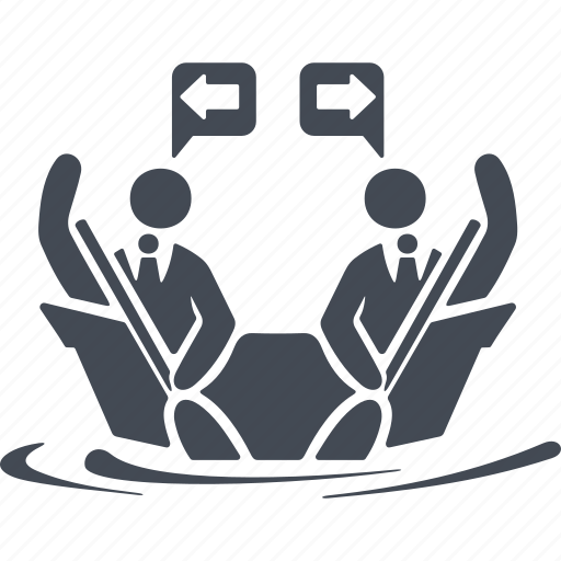 business people conflict, disagreement, man, people icon