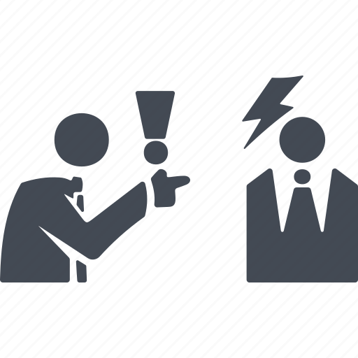 business people conflict, debate, discussion, disputation, dispute icon