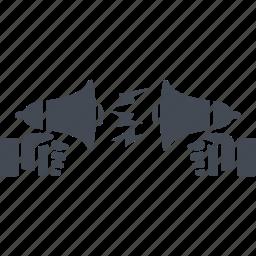business people conflict, conversation, dispute settlement, negotiation icon