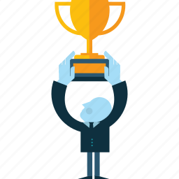 awards, business, conceptual, flat design, people, success icon