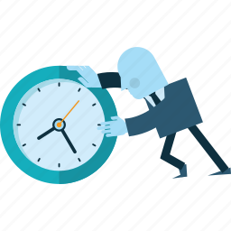 business, deadline, flat design, people, project, time icon