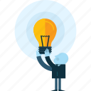 brainstorming, business, creativity, flat design, idea, innovation, people icon