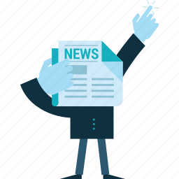 business, conceptual, event, flat design, news, newsletter, people icon