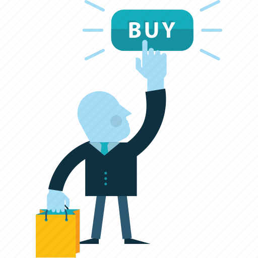 business, e-commerce, flat design, online, people, sale, shopping icon
