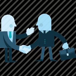 business, flat design, handling, partners, partnership, people icon