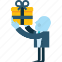 business, gift, packages, people, services icon