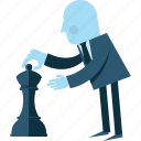 business, chess, conceptual, flat design, marketing, people, strategy icon
