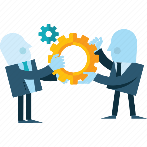 business, concept, falt design, people, team, work, workflow icon
