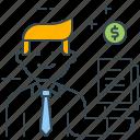 adviser, advisor, deals, financial, money, profit, sales icon