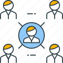 collaboration, connection, connections, network, social, teamwork icon