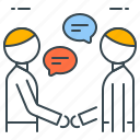 agreement, business, discussion, handshake, introduction, meeting, partnership icon