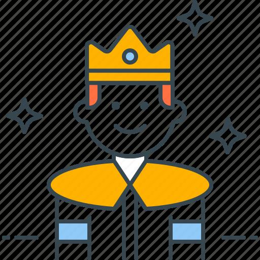 crown, king, leader, monarch, royal icon