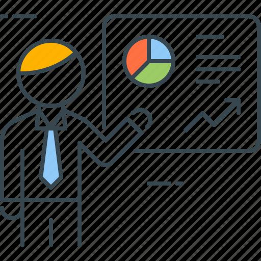 chart, conference, diagram, presentation, slides, statistics, stats icon