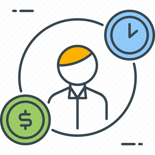 budget, management, manpower, money, resource, resources, time icon