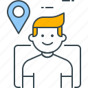 location, marker, pin, placeholder, point, user icon