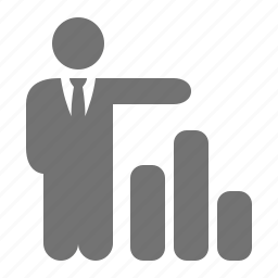 businessman, chart, collumn, graph, market share, statistics icon