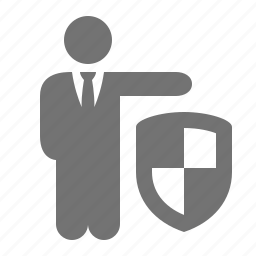 business, businessman, protection, safe, security, shield icon