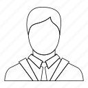 avatar, business, employee, line, manager, outline, people icon