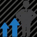 career, growth, progress, promotion icon