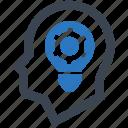 brainstorming, efficiency, head, idea icon