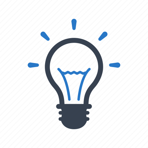 creative, idea, light bulb icon