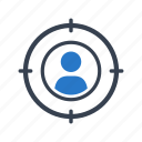 customer, recruitment, target icon
