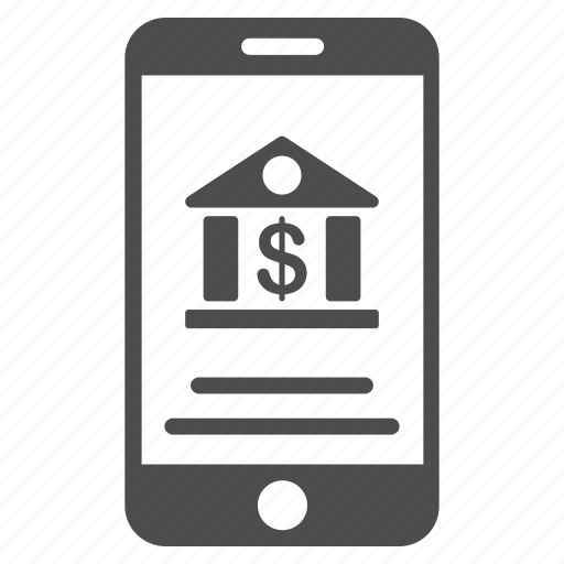 account, bank service, finance, iphone, mobile banking, payment, telephone icon