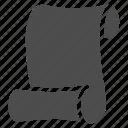 code, data, note, paper, roll, script, scroll icon