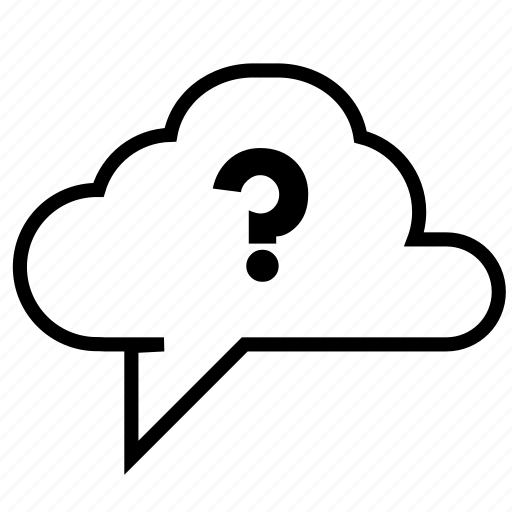 cloud, curiosity, data, information, message, questions, talk icon